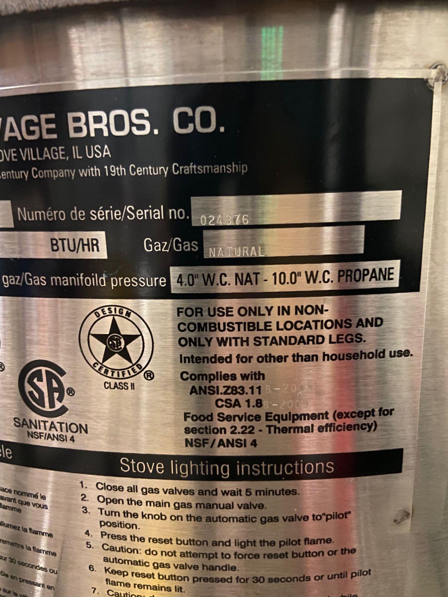 NEW Savage Bros Gas Candy Stove, Model# 20B, Serial# 024376, 80,000 BTU/HR - Image 3 of 6