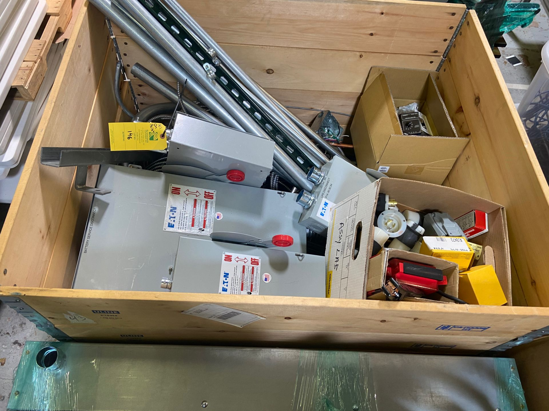 Pallet of Electrical Components, Includes: (SEE PHOTOS FOR ALL INCLUDED) Eaton Heavy Duty Safety - Image 2 of 19