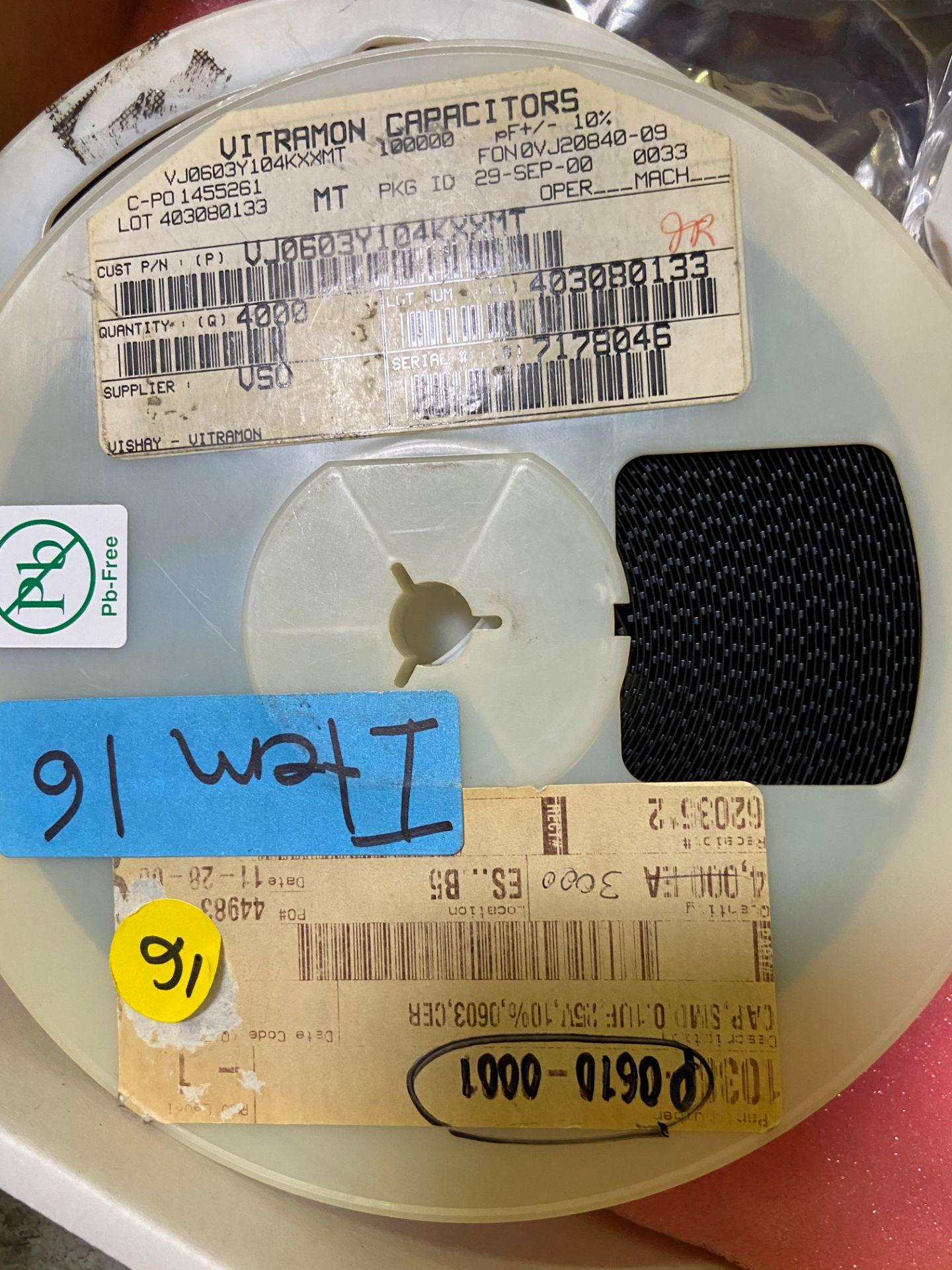 Vishay VJ0603Y104KXXMT, Cap Ceramic 0.1uF 25V X7R 10% Pad SMD 0603 150°C Automotive T/R, APROX QTY - Image 4 of 15