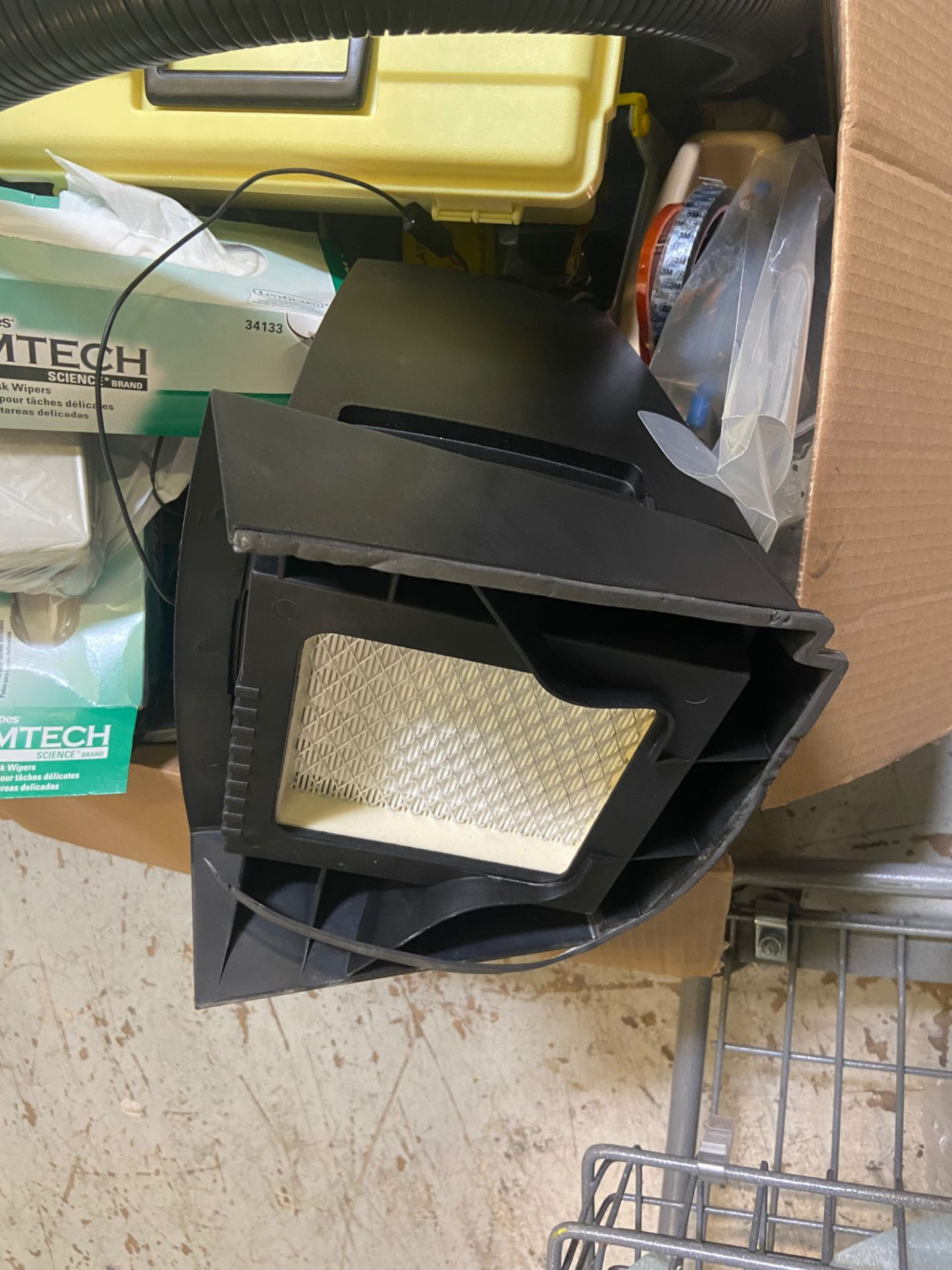 Box of Miscellaneous Lab Desk Items, Includes: Oki Fume Extractor, Model# BVX-100; Puhui - Image 5 of 8