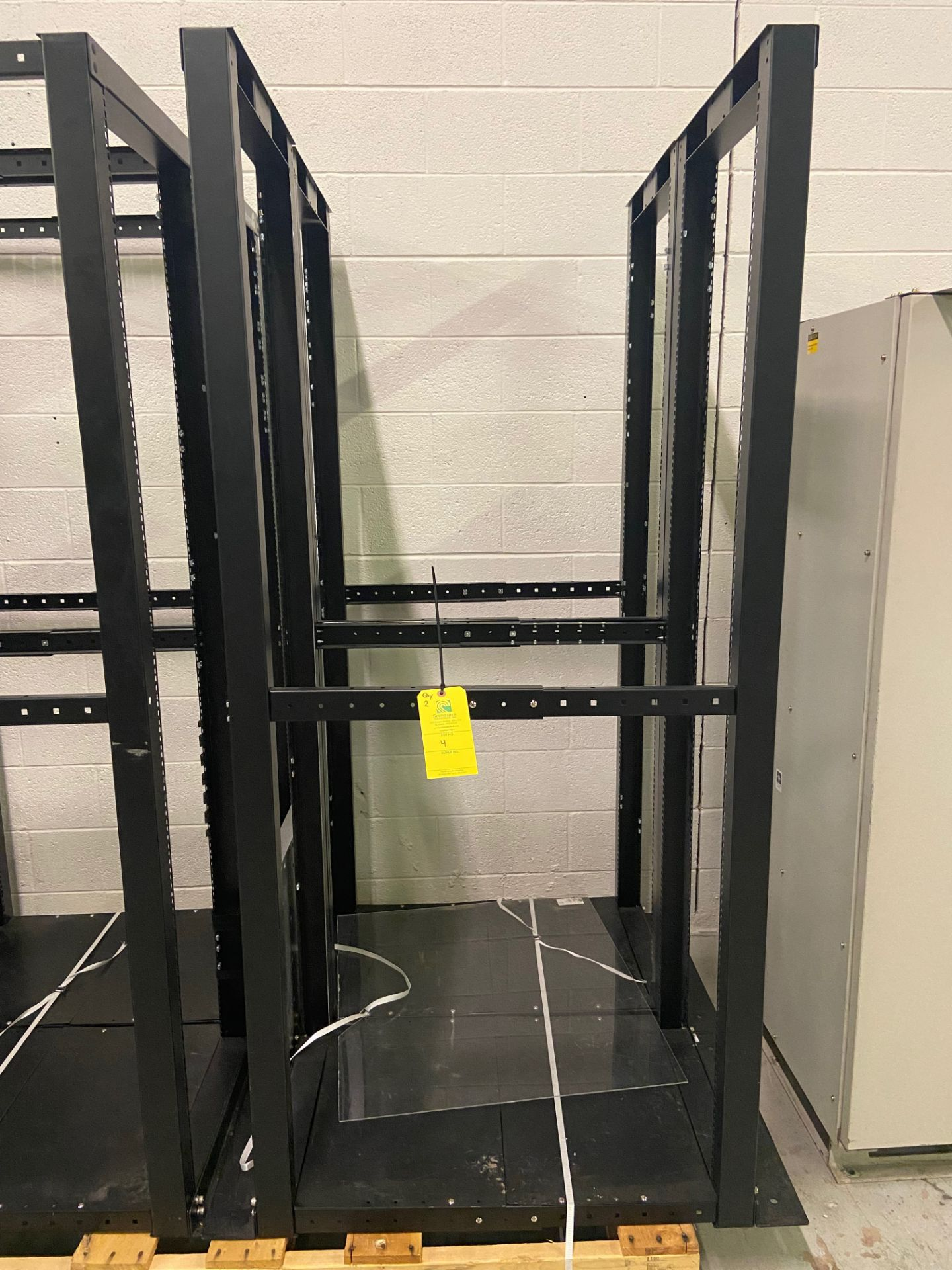 """StarTech 4-Post Open Frame Network Server Data Rack, Qty 2, 22"""" Wide x 35"""" Deep x 78"""" Tall,"""