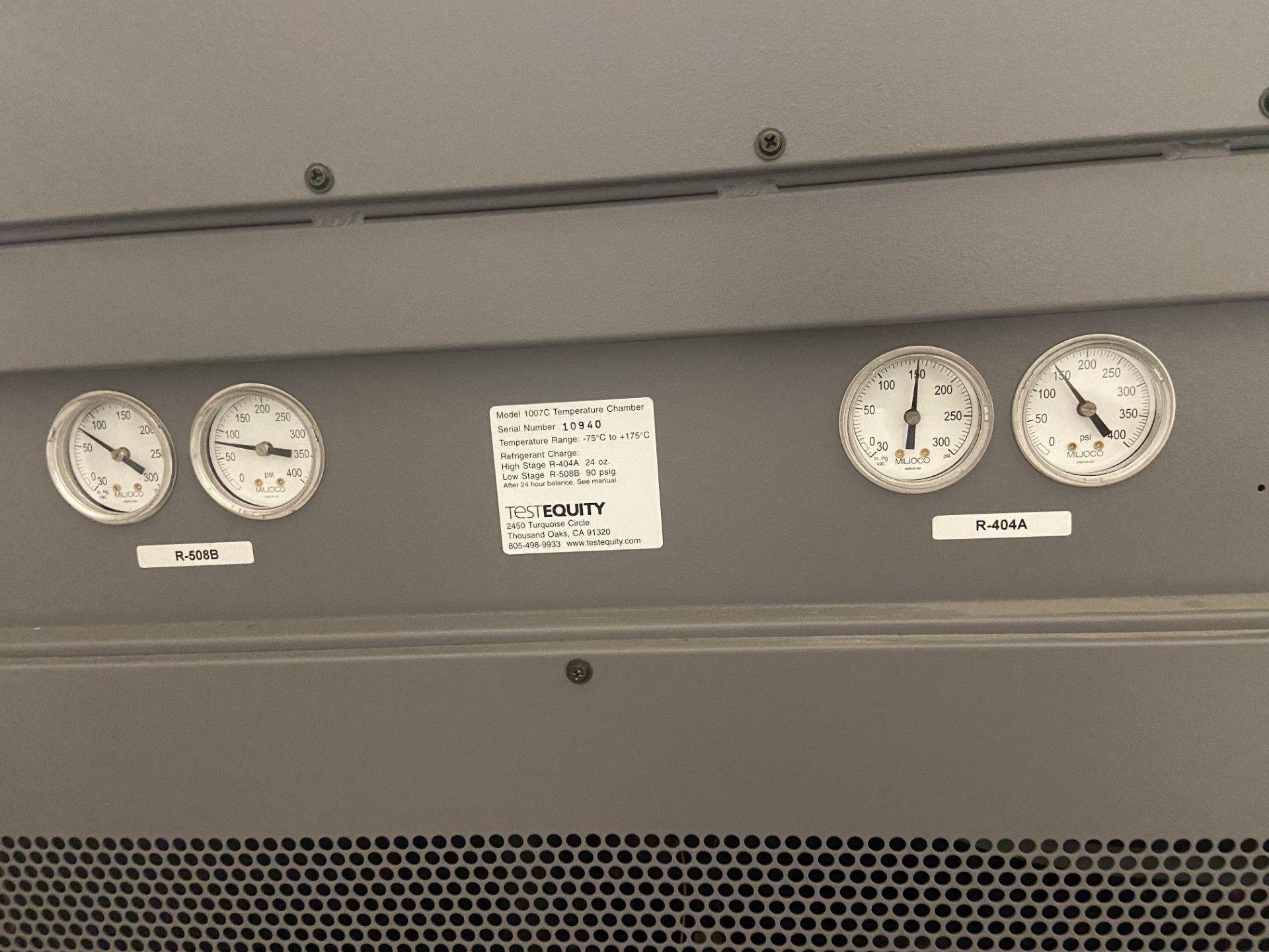 TestEquity Temperature Chamber, Model# 1007C, Serial# 10940, Temp Range: -75C to +175C, 208V, Single - Image 11 of 12