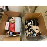 Qty 2 Boxes of Miscellaneous Soldering Lab Desk Items, Including: (SEE PHOTOS FOR ALL INCLUDED),