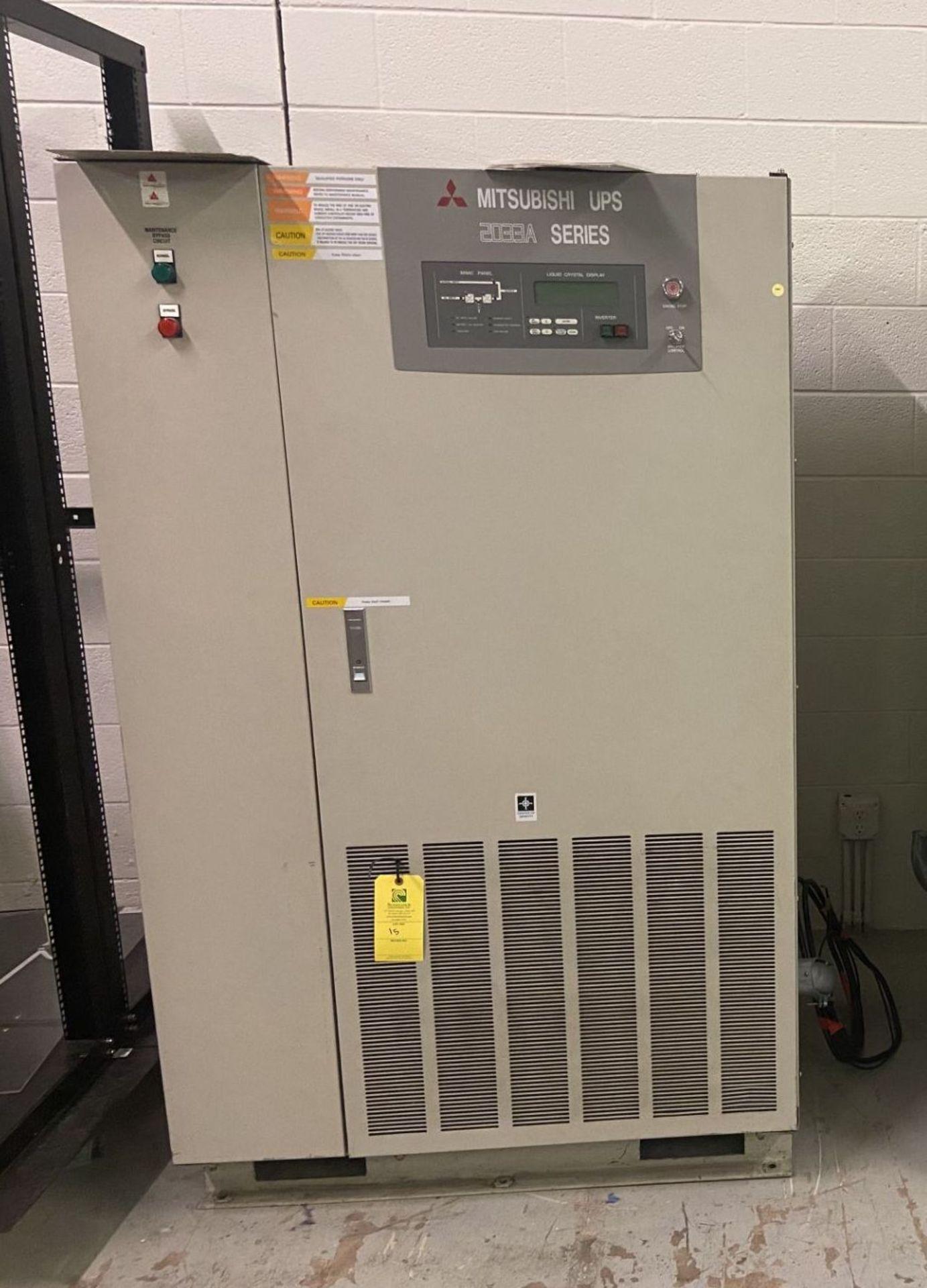 Mitsubishi Uninterruptible Power Supply, 2033A Series, Type UP2033A-B403SU-2, Serial# 96-GC8YQI-04,