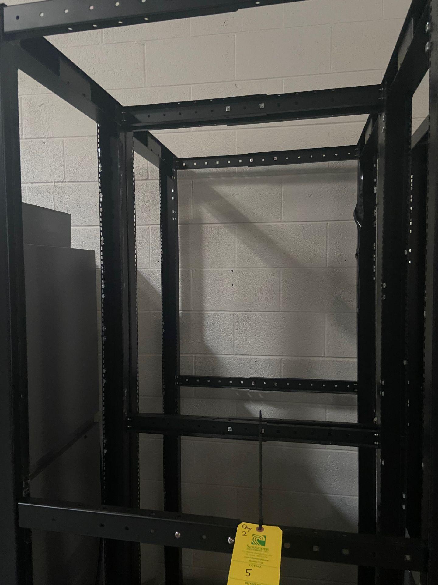 """StarTech 4-Post Open Frame Network Server Data Rack, Qty 2, 22"""" Wide x 35"""" Deep x 78"""" Tall, - Image 5 of 6"""