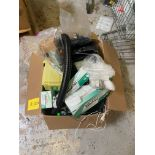 Box of Miscellaneous Lab Desk Items, Includes: Oki Fume Extractor, Model# BVX-100; Puhui