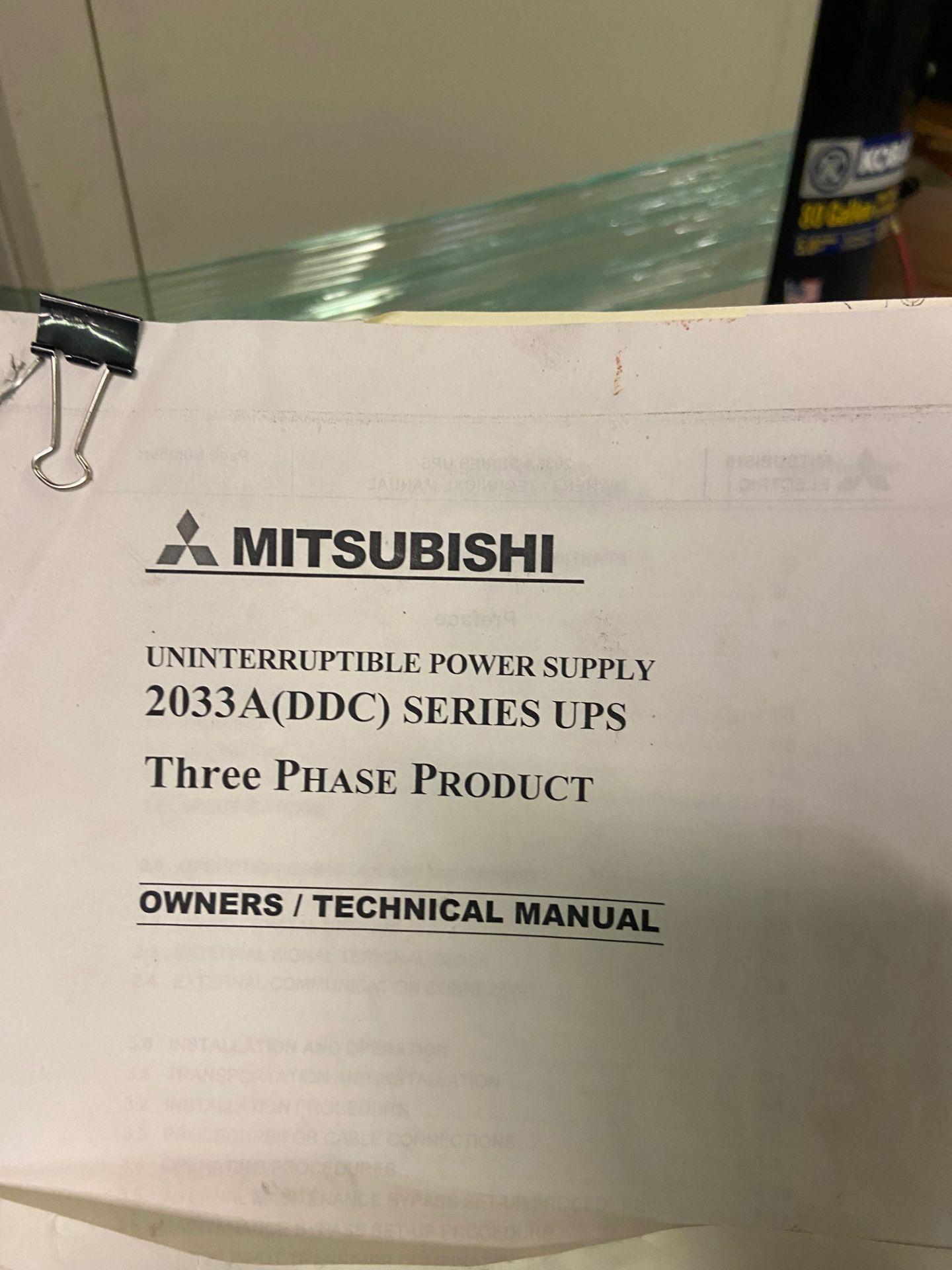 Mitsubishi Uninterruptible Power Supply, 2033A Series, Type UP2033A-B403SU-2, Serial# 96-GC8YQI-04, - Image 5 of 6