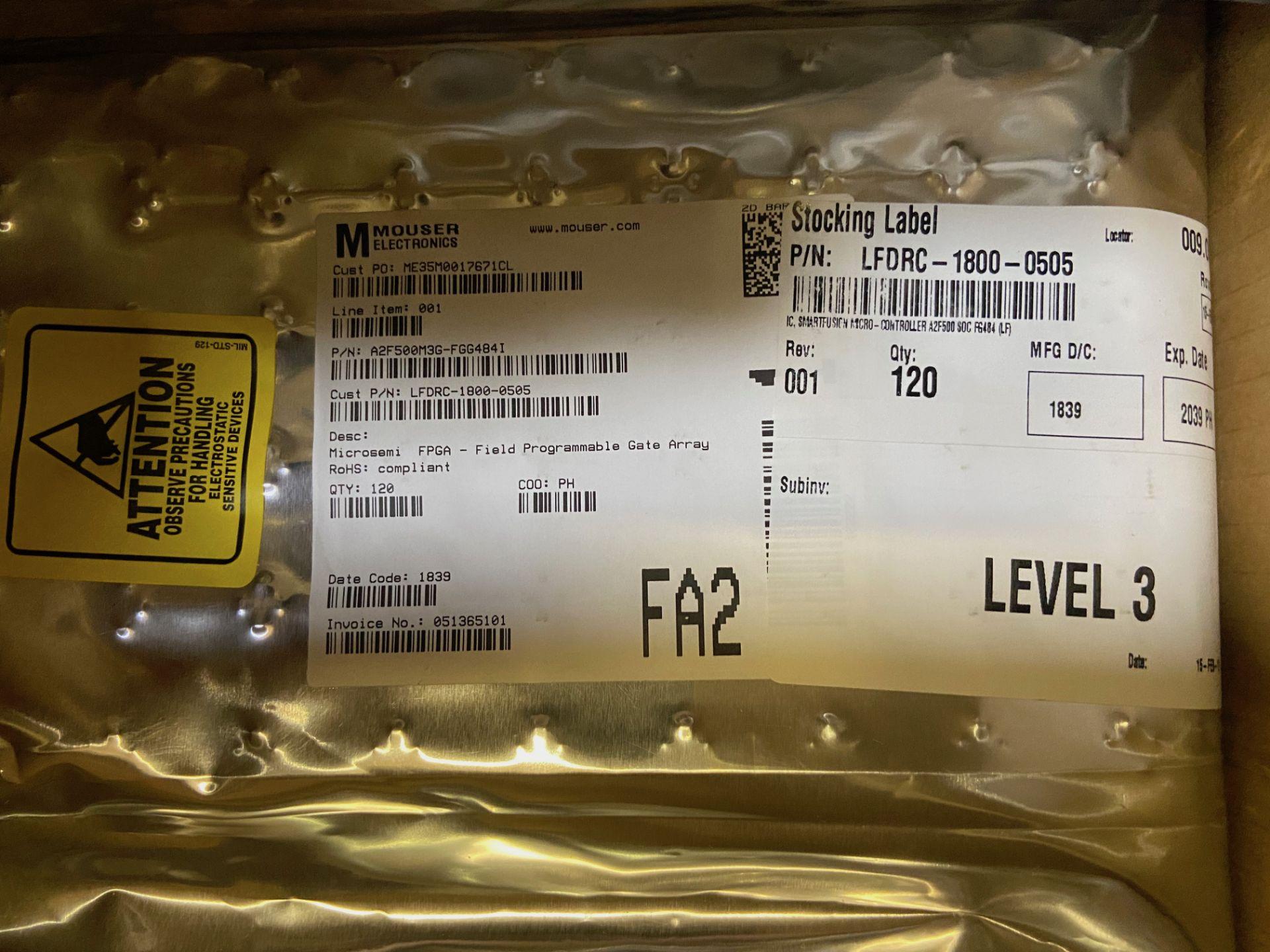 Microchip Technology SoC FPGA A2F500M3G-FGG484I, QTY 125, FPGA SmartFusion Family, 500K Gates, - Image 3 of 6