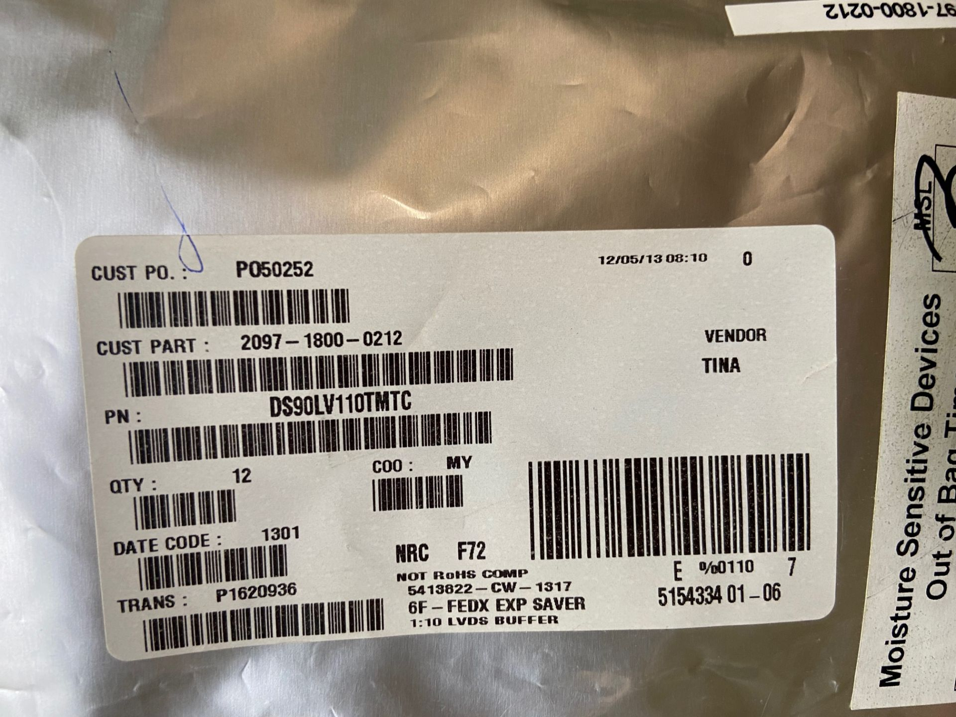 Texas Instruments DS90LV110TMTC, LVDS Receiver 800Mbps 0.45V 28-Pin TSSOP Tube, QTY 86 - Image 6 of 12