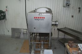 Hollymatic 900 E mixer / grinder 480 V 3 phase 4 inch grinder head serial # IMG 90E GO34 with 2