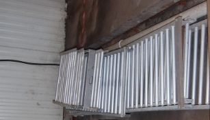 """Aluminum Roller conveyors 1 120 """"x 24 """" 2 - 8ft 2 - 30 """" 1 - 65"""" 1 - 42"""" ***LOADING FEE OF: $ 50"""