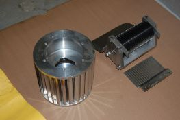Urschel sprint 3/8 inch crossknife spindle assembly and circular spindle support assembly stripper