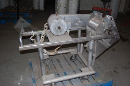 Cutter / slicer 10 inch blade frame 52 x 20 x 25 inches with Baldor motor ***LOADING FEE OF: $ 75