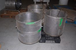 """3 Stainless steel perforated baskets 24x24"""" 4 yokes ***LOADING FEE OF: $ 50 will be added to the"""
