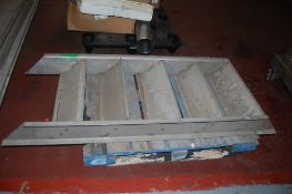 """4 sets of stainless steps 1 - 9 """" deep x 27 inch wide x 6 ft long 2 @ 47 x 21 inch 1 - 39 x 21 inch"""