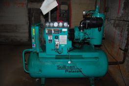 Sullair screw compressor 2005 model 20D-TM unit # F13178 75-80CFM @100 PSI food grade 20 Hp ***