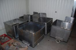 5 - SS meat buggies 26 X 26 inches ***LOADING FEE OF: $ 100 will be added to the winnger bidder's