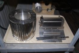 Urschel sprint 9/32 inch crossknife spindle assembly and 1/4 circular spindle support assembly