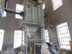 Amano dust collector, model # WRT-5096; rated 10,000 cfm; pulse jet cleaning system; 30Hp premium