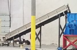 """Dallas, TX Incline belt conveyor approx 18"""" x approx 20' with magnet stations: Dallas,Tx ***"""