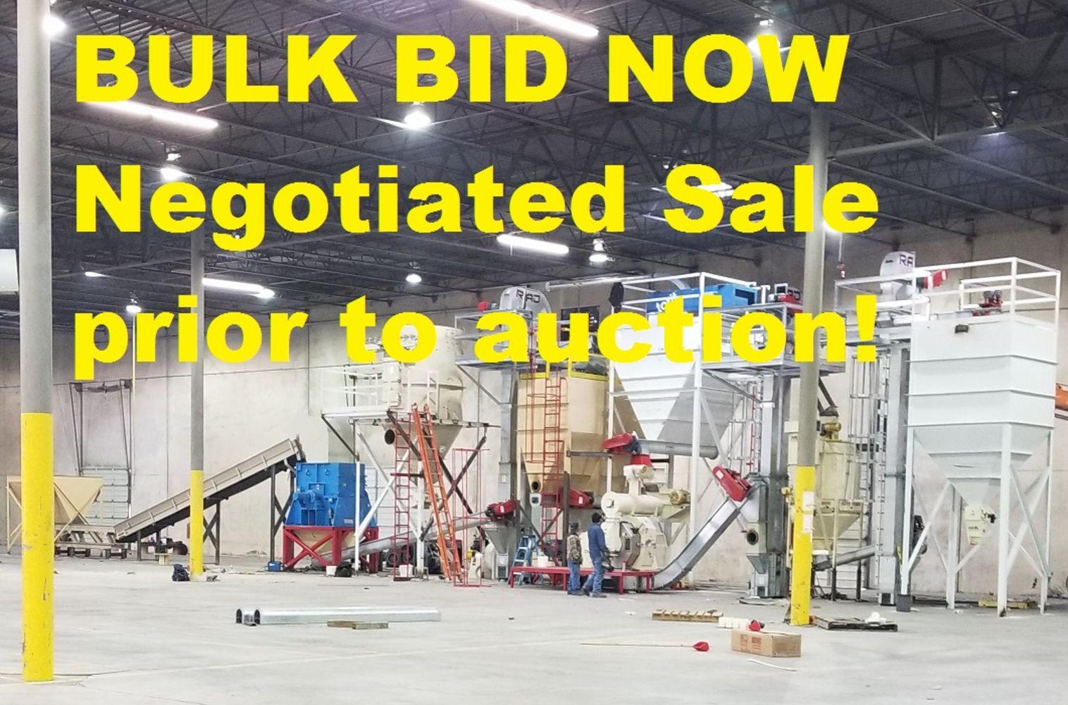Pelleting Equipment Auction -- MULTI-SITE with 500+ Lots -- 2017 Complete Wood Pellet Line!