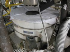 """Florence, CO SWECO 60"""" vibratory screener; 2 screen decks, 3 outlet chutes; includes new spare"""
