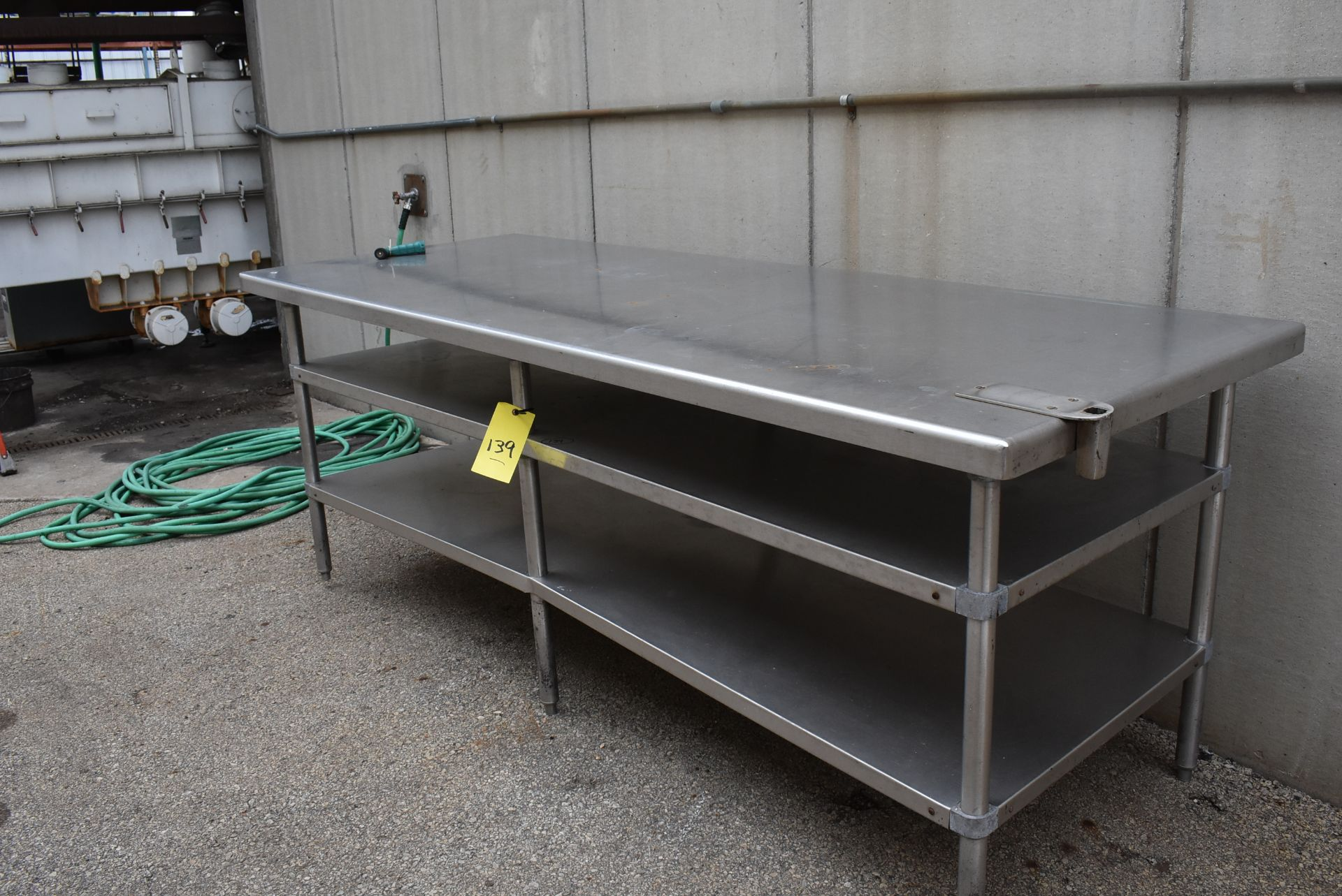 Stainless Steel Table, 8' x 3'