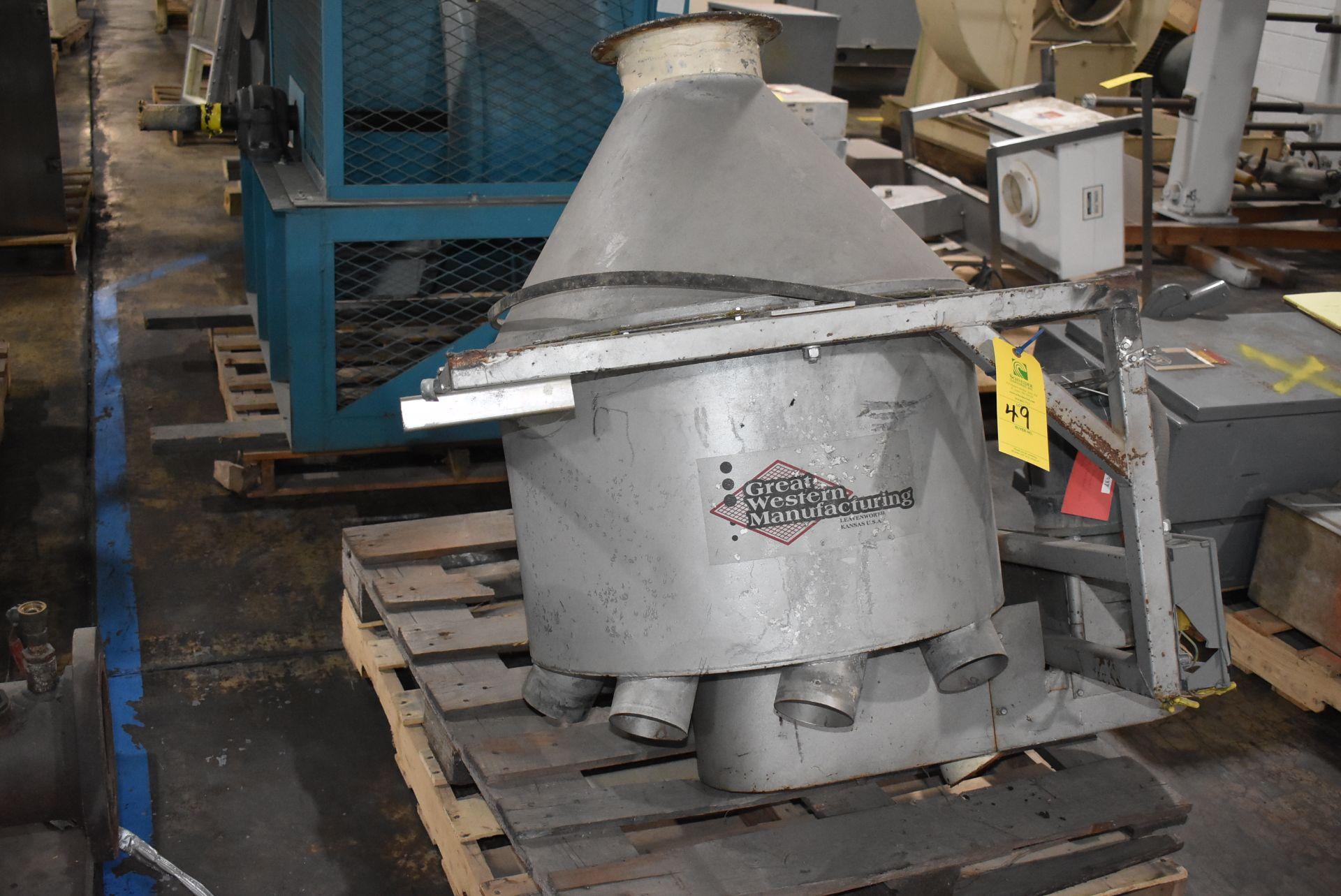 Great Western Hopper Distribution System, Stainless Steel Hopper w/Motor