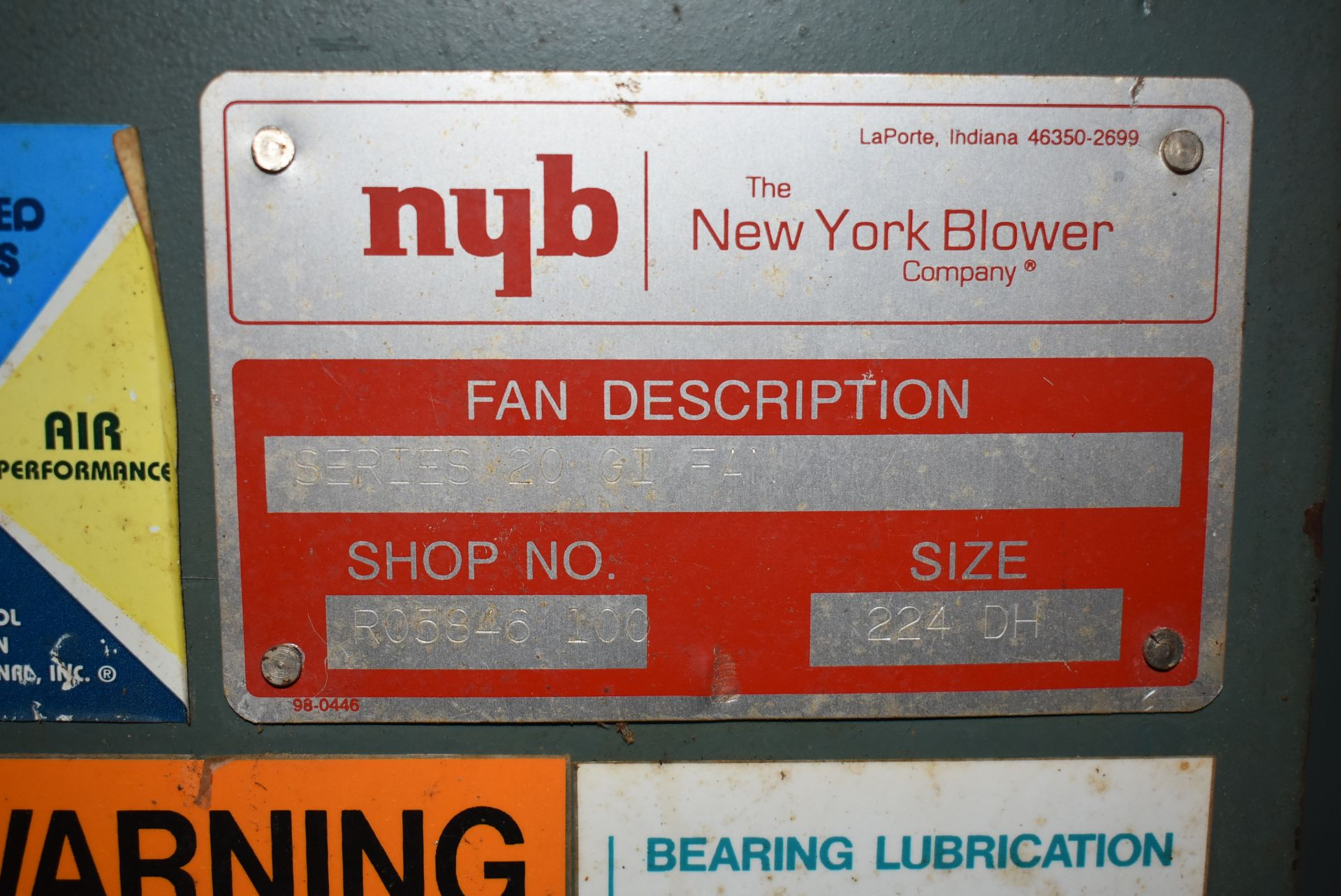 New York Blower, Size 224-OH w/15 HP Motor - Image 2 of 4