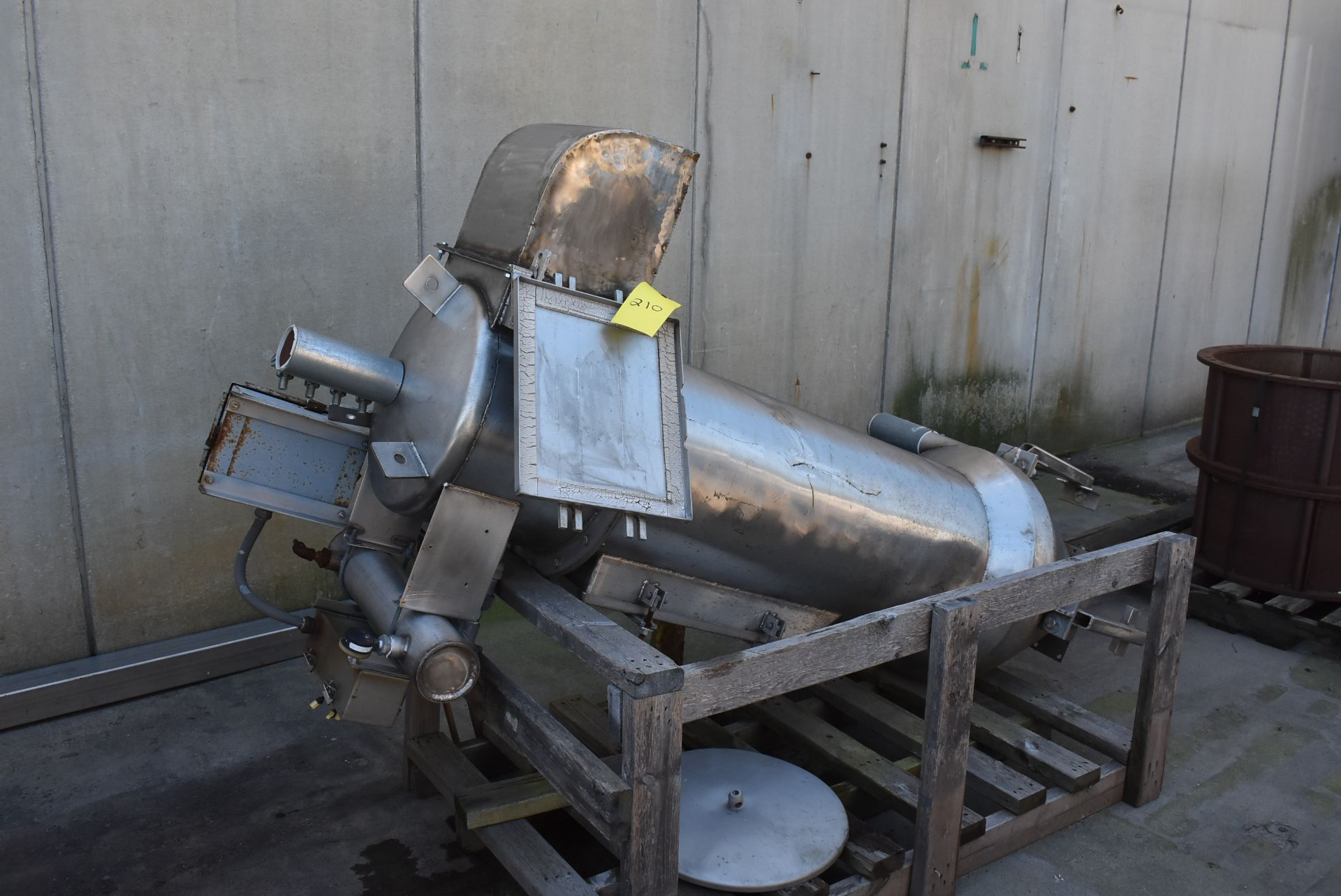 """Stainless Steel Hopper/Feed System, 18"""" Diameter x 72"""" Length"""