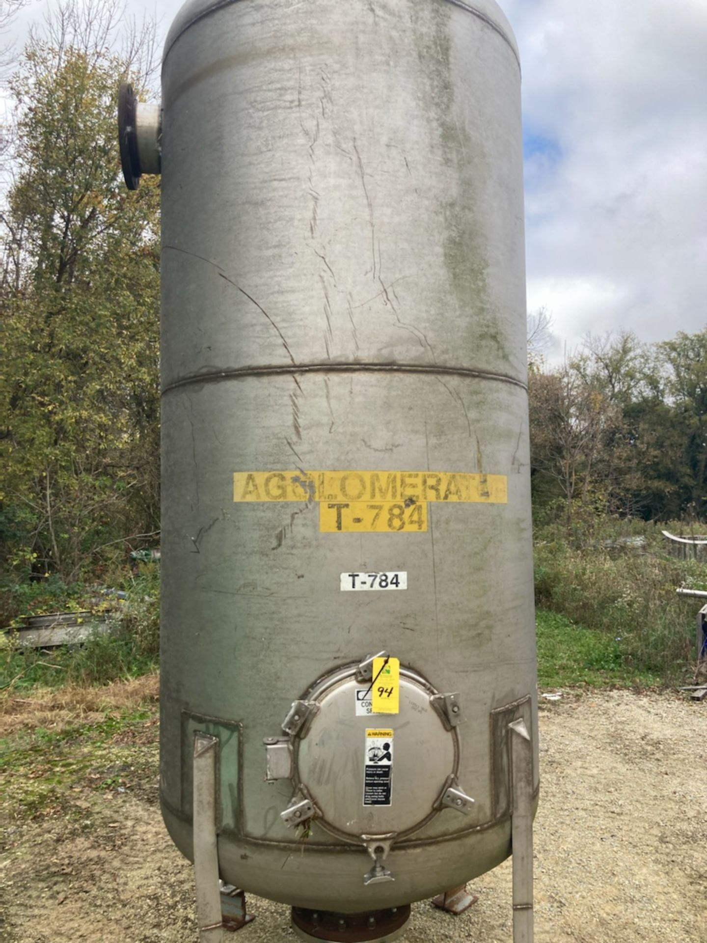 Stainless Steel Tank with Manway - Approximate 825 Gallons