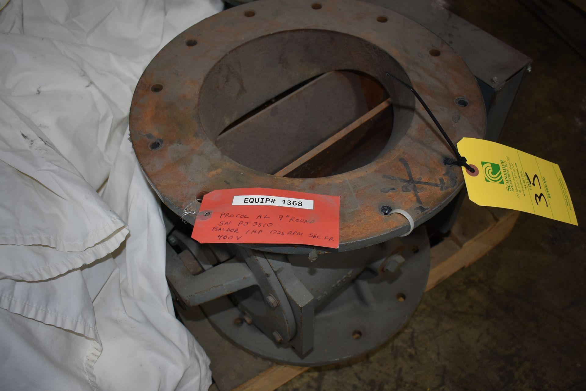 """Procol 9"""" Air Lock w/Baldor 1 HP Motor - Image 2 of 2"""