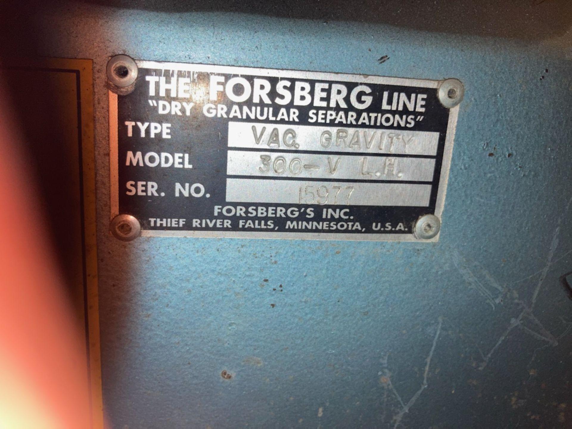 Forsberg Gravity Table Model 300-V L.H. S/N 15977 - Image 4 of 4