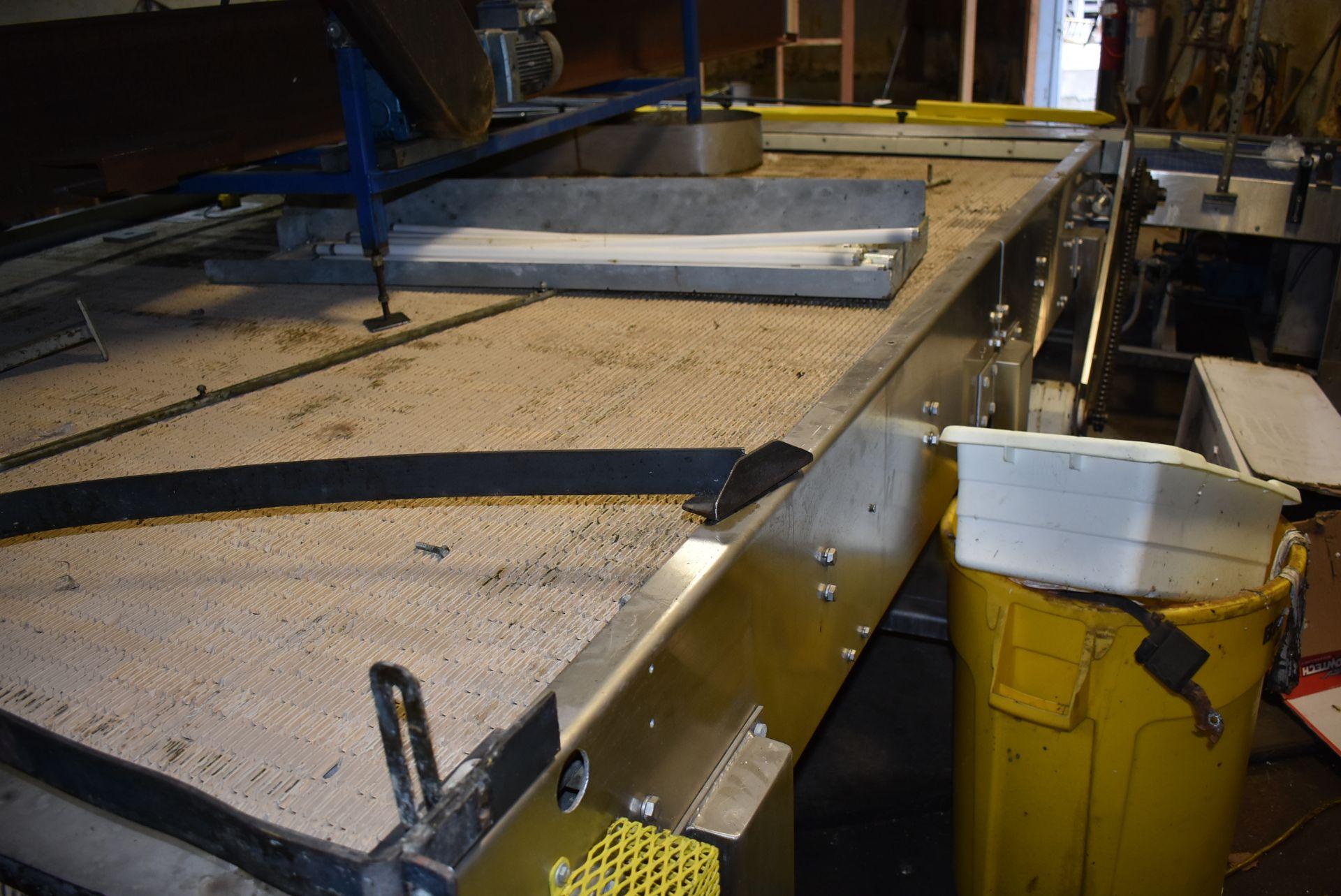Motorized Belt Conveyor/Accumulation Table, 10' x 8' - Image 2 of 3