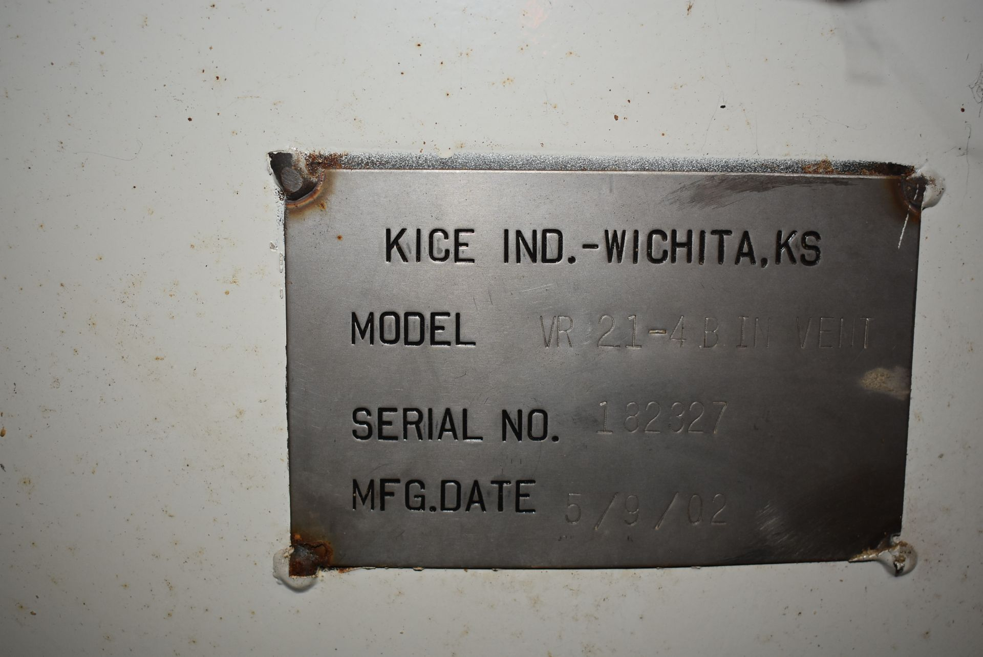 Kice Model #VR-214BINVENT Dust Collection System - Image 2 of 3