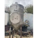 Stainless Steel Tank with Manway - Approximate 250 Gallons