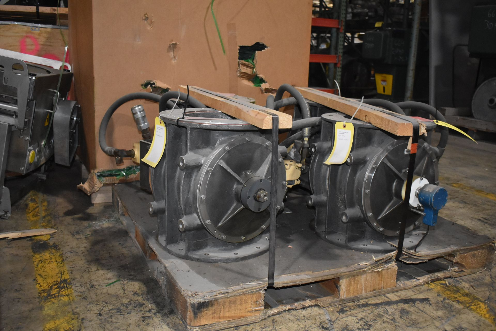 Qty. (4) Buhler Model #USP-50 Air Locks, Hydraulic Motors - Image 3 of 4