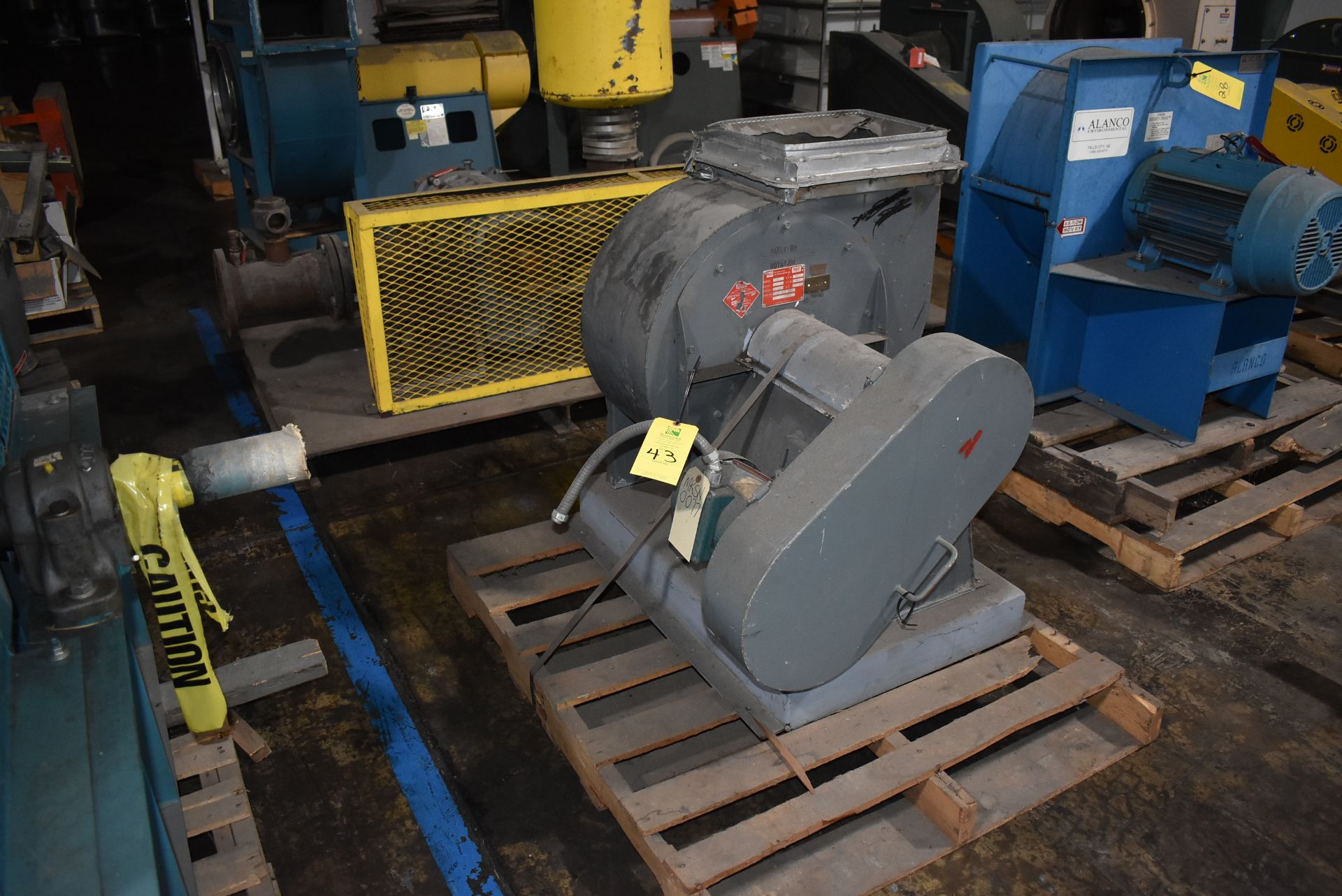 Porter/Peerless Model #150 Blower, Rated 2180 CFM w/2 HP Motor