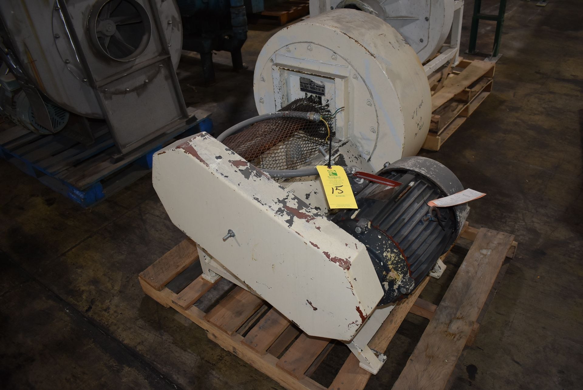 Kice Model #FC11 Blower w/10 HP Motor - Image 3 of 3