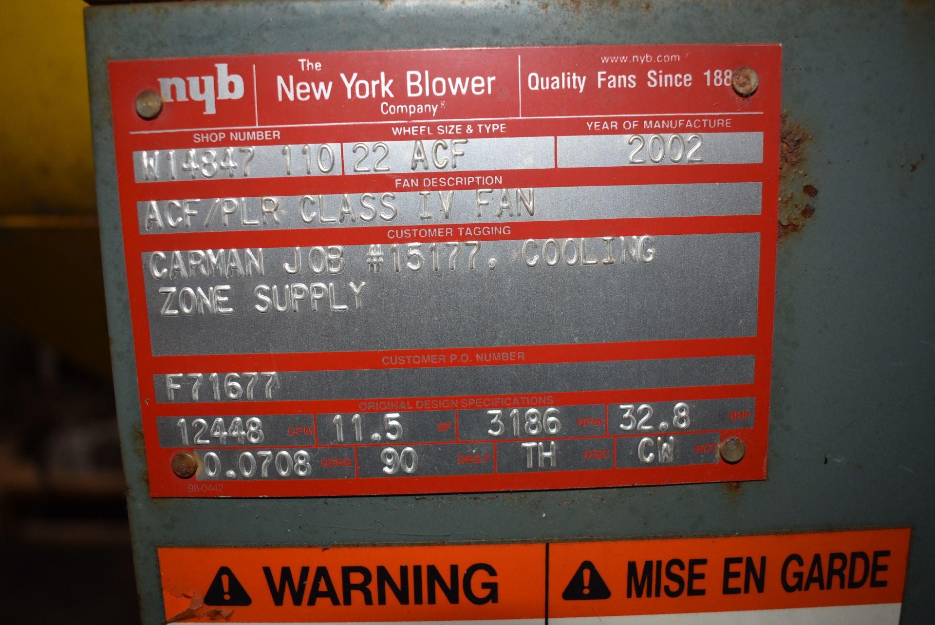 New York Blower, ACF/PLR Fan w/40 HP Motor - Image 2 of 4