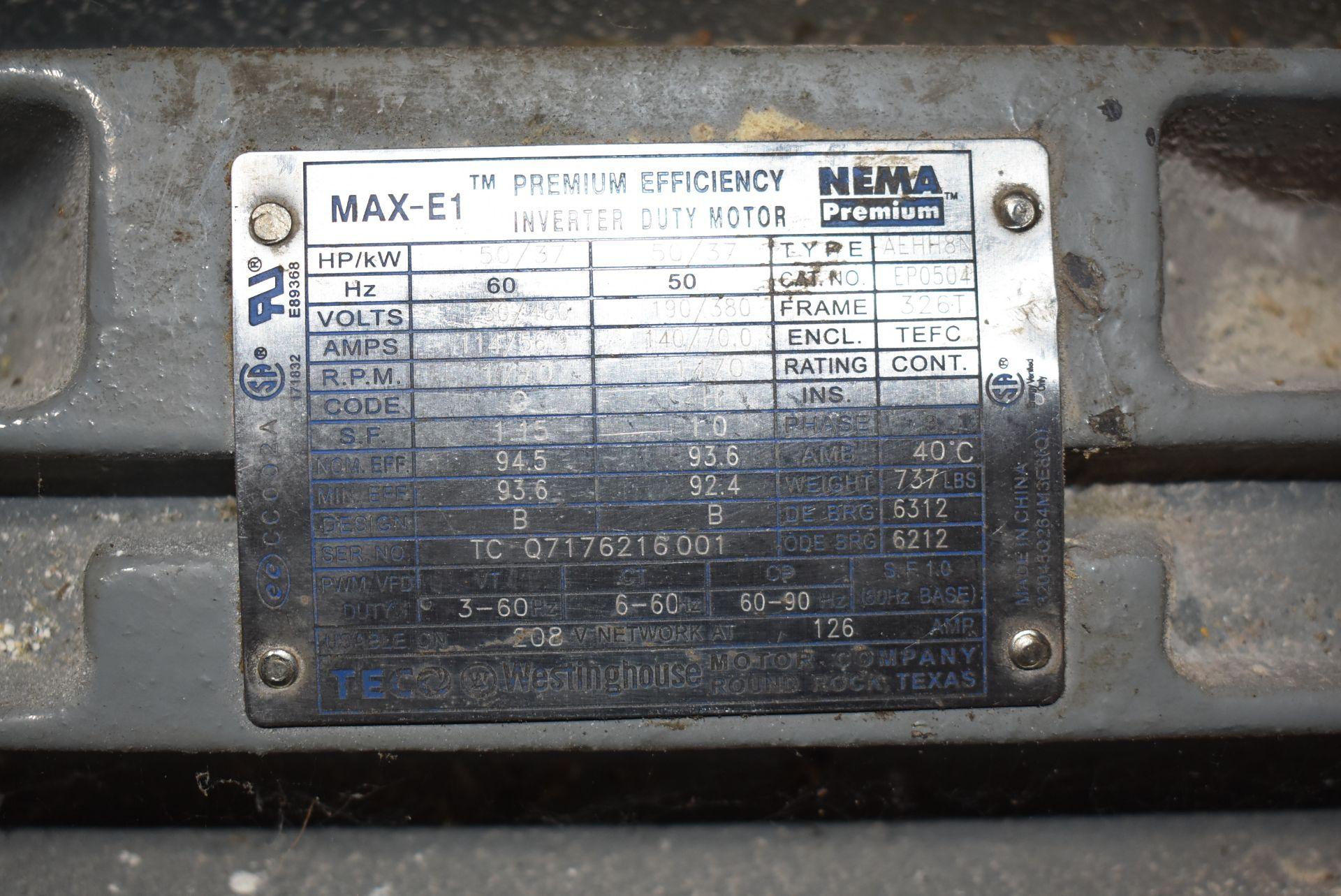 Westinghouse/TECO 50 HP Motor, 230/460 Volt, 1770 RPM - Image 2 of 2