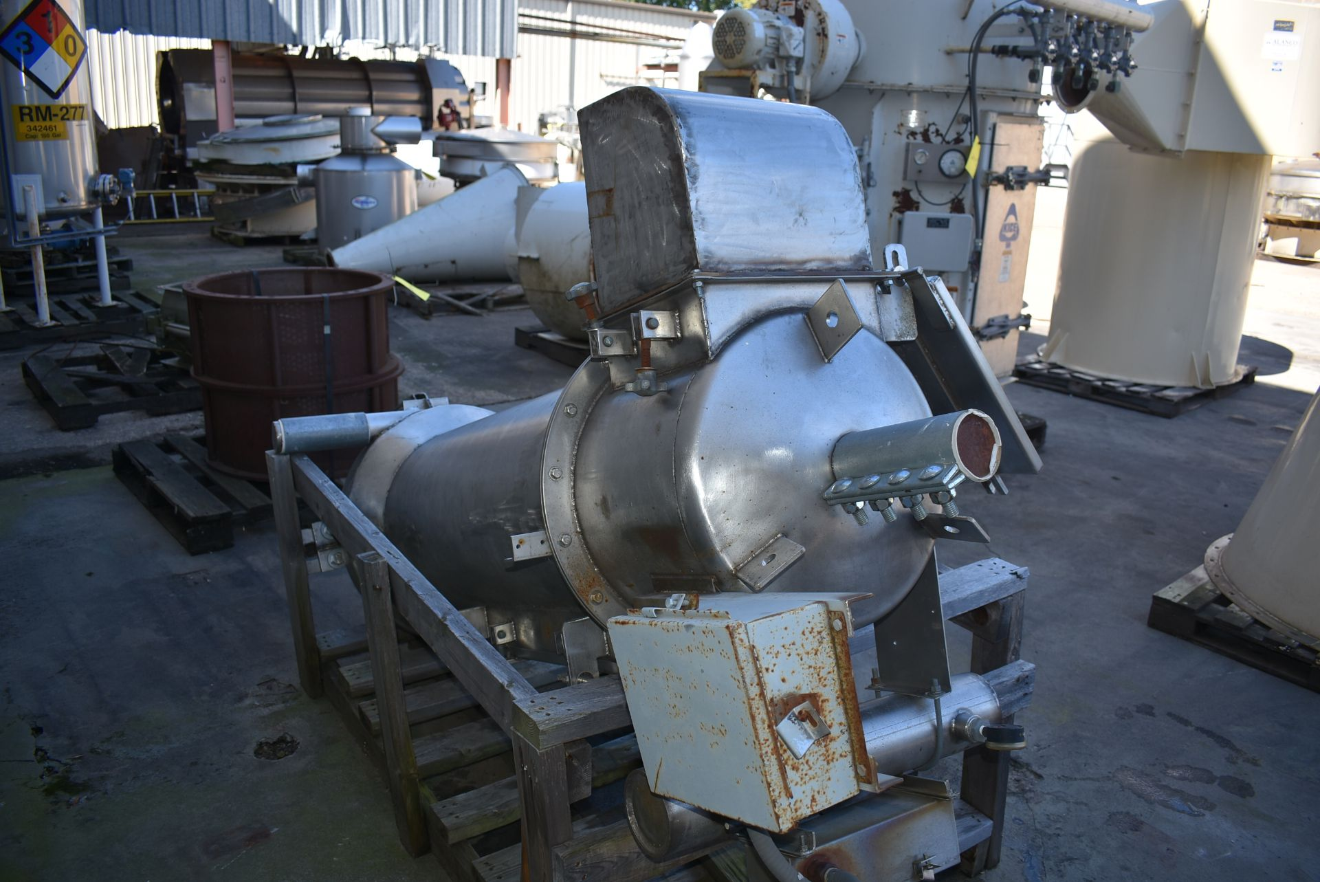 "Stainless Steel Hopper/Feed System, 18"" Diameter x 72"" Length - Image 2 of 2"