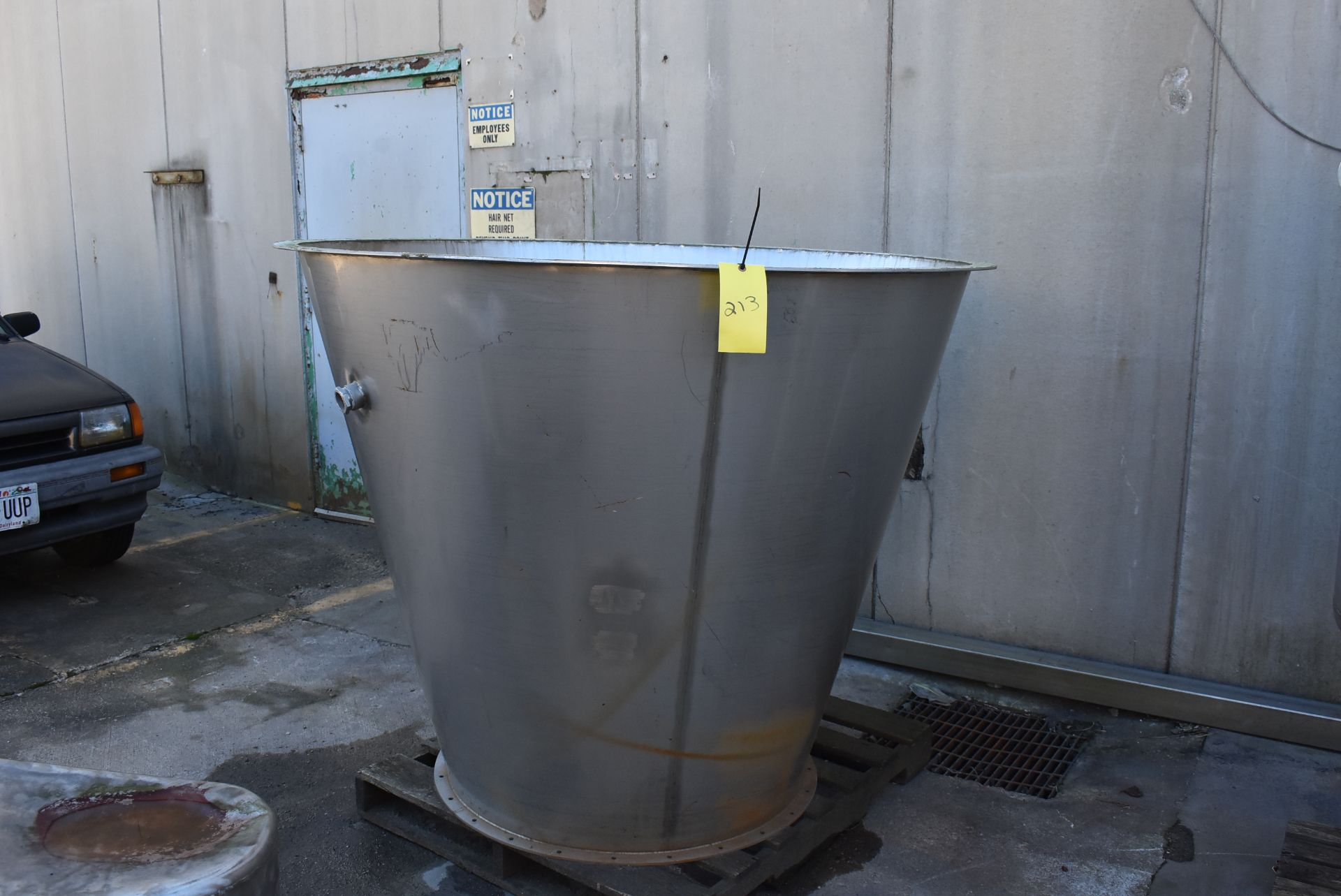 """Stainless Steel Coe Feed Unit, 60"""" Diameter Top x 52"""" Height"""