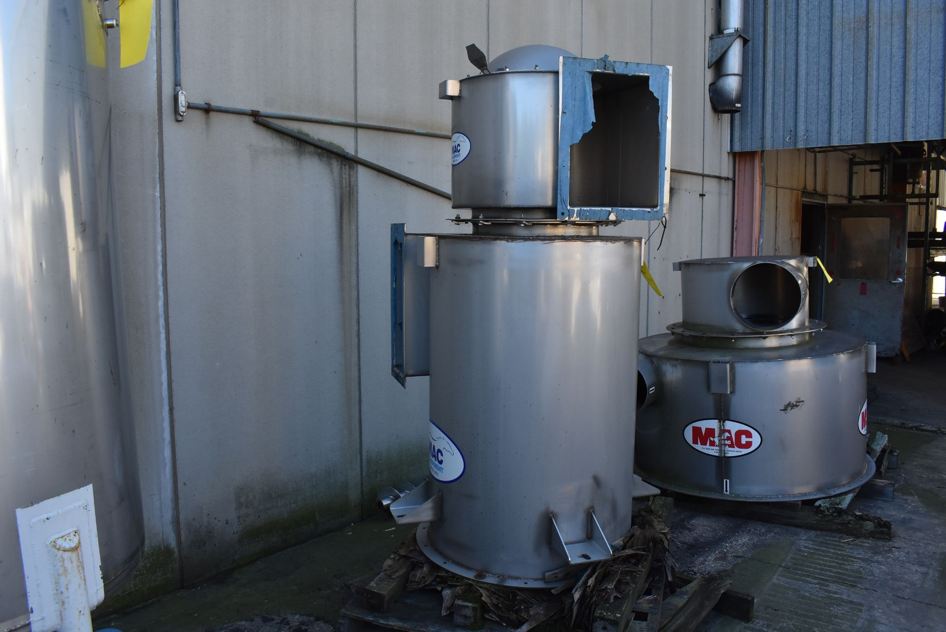 Stainless Steel Hopper, 9' Top to Bottom and MAC SS Air Flow Component - Image 4 of 4