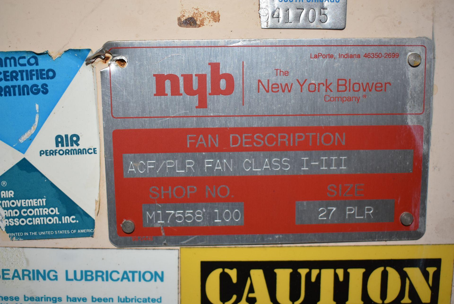 New York Blower, ACF Fan/Size 27PLR - Image 2 of 3