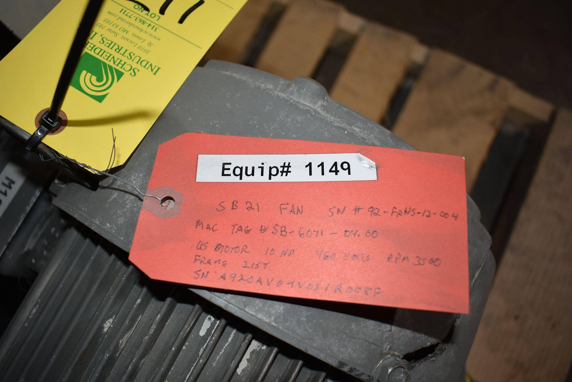 Mac #SB-6071 Fan/Blower w/ 7 1/2 HP Motor - Image 2 of 3