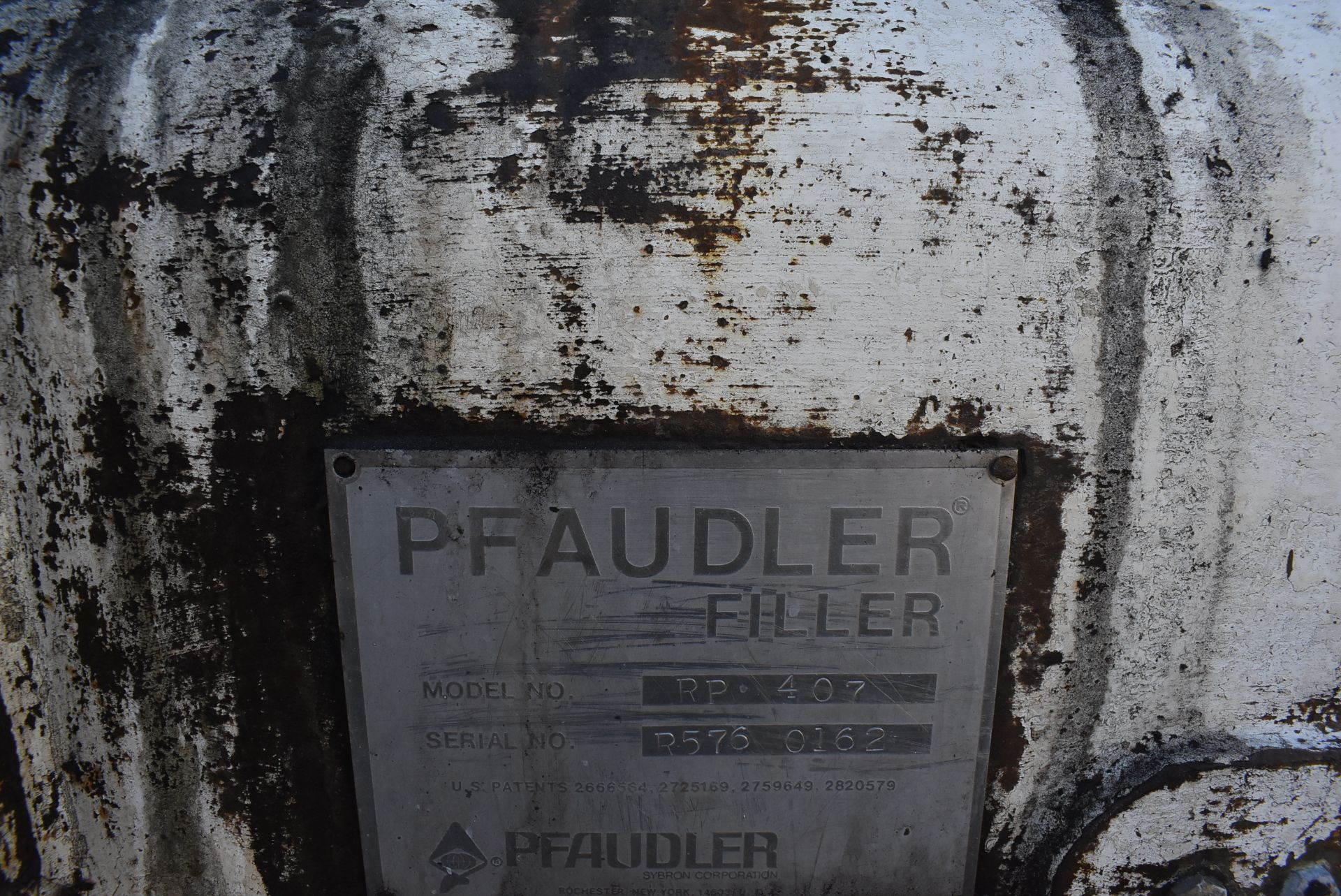 Pfaudler 7-Station Model #RP407 Filler, SN R576-0162