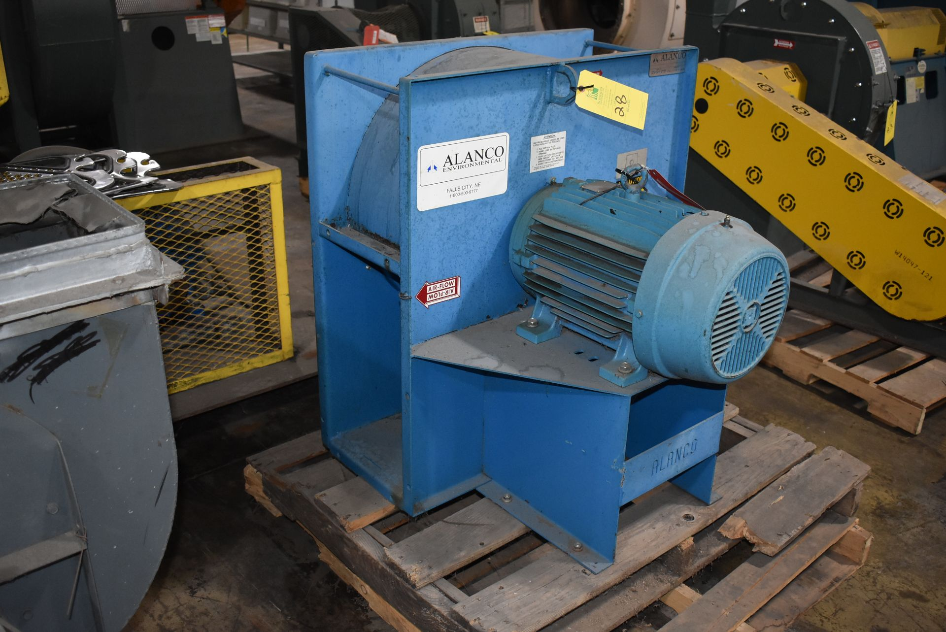 Alanco Environmental Model #C2020 Blower w/20 HP Motor - Image 3 of 3