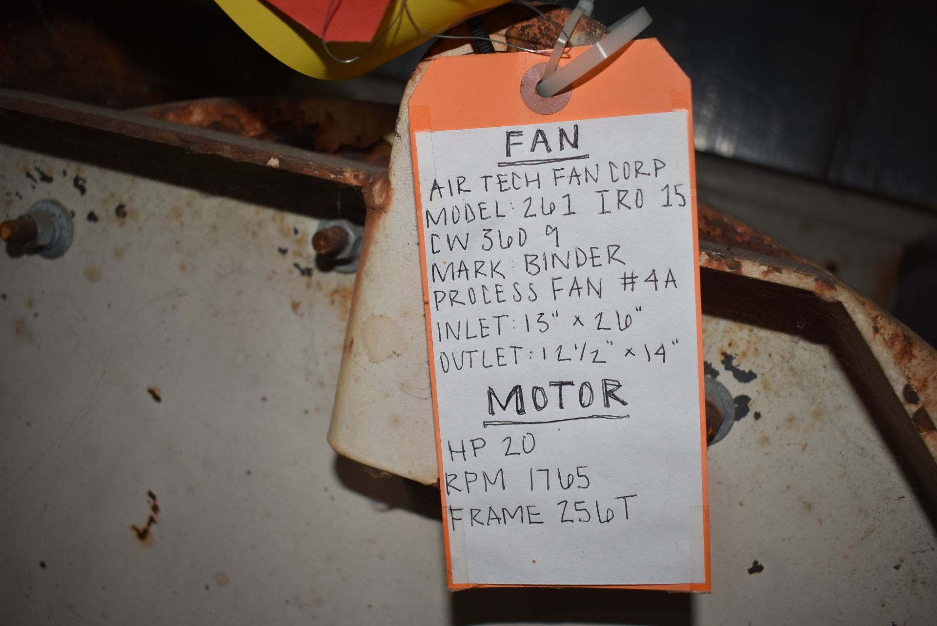 Air Tech Model #261 Blower w/20 HP Motor - Image 2 of 3