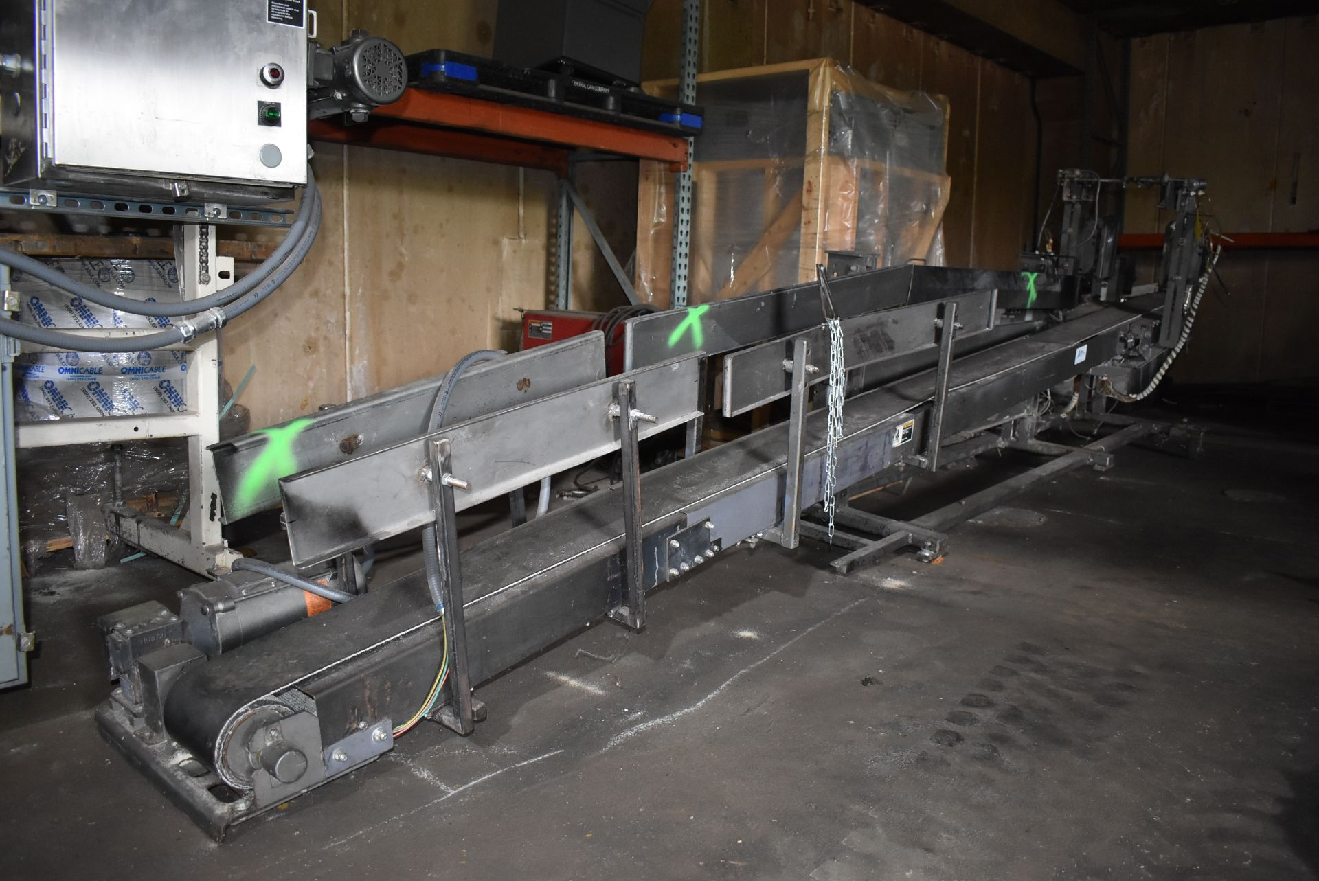 "Taylor Products Motorized Belt Conveyor, 18' Length x 7"" Wide Belt - Image 3 of 3"
